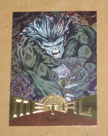 Marvel Metal (Fleer 1995) Card #1- Beast EX