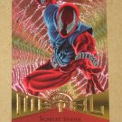Marvel Metal (Fleer 1995) Card #75- Scarlet Spider EX-MT