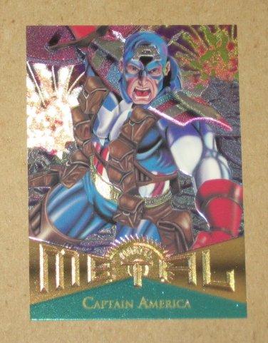 Marvel Metal (Fleer 1995) Card #11- Captain America NM