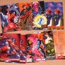 DC versus Marvel (Fleer/Skybox 1995) - Lot of 10 Cards EX