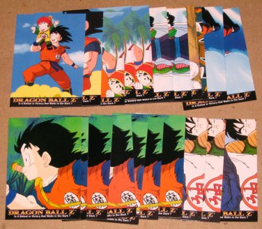 Dragon Ball Z Series 1 (Artbox 1996) - Lot of 21 Cards VG