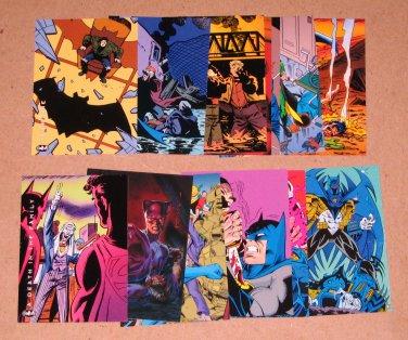 Batman Saga of the Dark Knight (SkyBox 1994) - Lot of 14 Cards EX