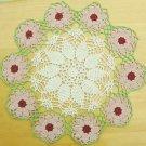 """Hand Crochet Doilies 2 pcs 14"""" or 36cm diameter Floral Design Table Topper Decoration"""