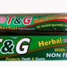 Non Fluoridated Vendol T & G Ayurvedic Herbal Toothpaste 18 Herbs Non Fluoride 50g