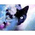 5D Diamond Diamond Painting Animal  Cat Embroidery Kit Cross Stitch Rhinestone Mosaic Painting Animal  20x25cm