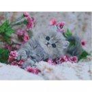 5D Diamond Mosaic Embroidery Painting Animal  Lovely Kitten Cross Stitch Kit 40x50 cm