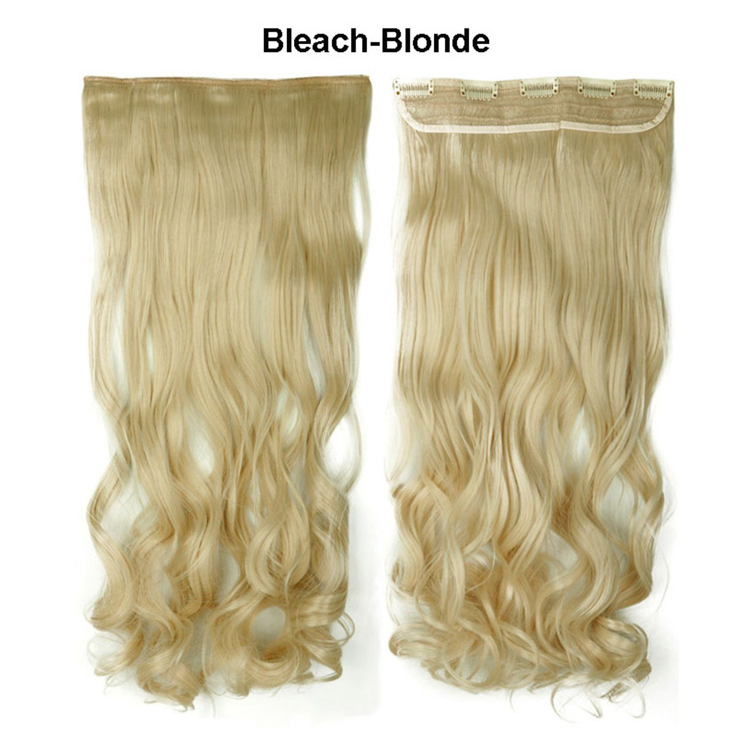 28 Inch Fine Quality Beach Blond Long Curly Synthetic Real As Human