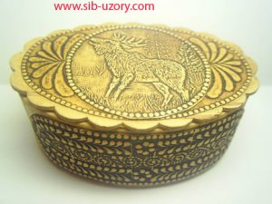 Russian Native Handmade Birch Bark Box