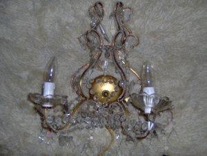 wall sconce chandelier crystal teardrops