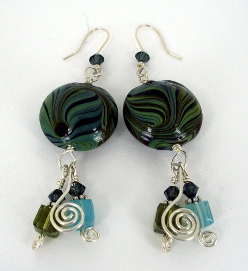 Glass Swirl Earrings