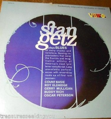 Stan Getz ~Blues*ENHANCED FOR STEREO LP *