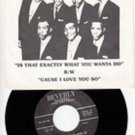 KOOL TOPPERS ~ Is That Exactly What You Wanta' Do *Mint- RARE PIC SLEEVE w/45 !