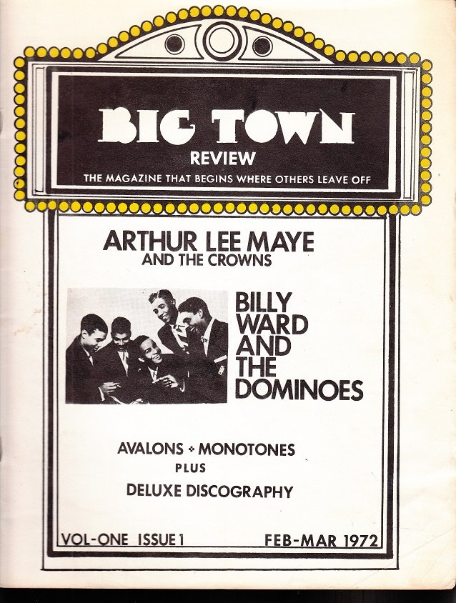 BIG TOWN REVIEW ~ Magazine #1 Dominoes *