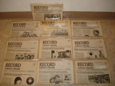 RECORD COLLECTOR'S MONTHLY ~ 10 Newsletters *