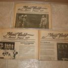 MUSIC WORLD & RECORD DIGEST ~ 3 Newsletters *