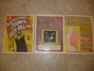 ROCK & ROLL SHOWS ~3 Rare R&B Magazines *
