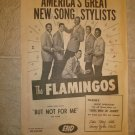 FLAMINGOS ~ Rare 1959 Billboard Ad *