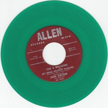 5 Willows ~My Dear Dearest Darling*M-45*RARE GREEN WAX !