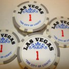 LAS VEGAS CITY OF LIGHTS CASINO CHIPS *