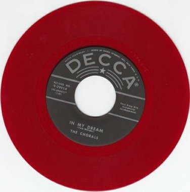 CHORALS ~ In My Dreams~RED WAX*M- 45*