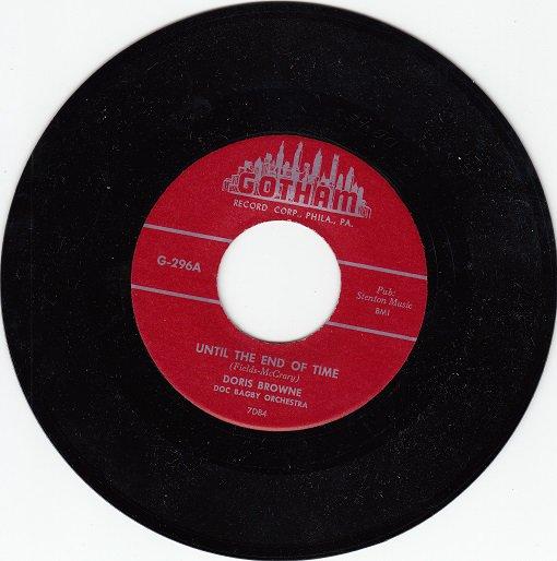 DORIS BROWNE & GRP ~ Until The End Of Time* M-45 !