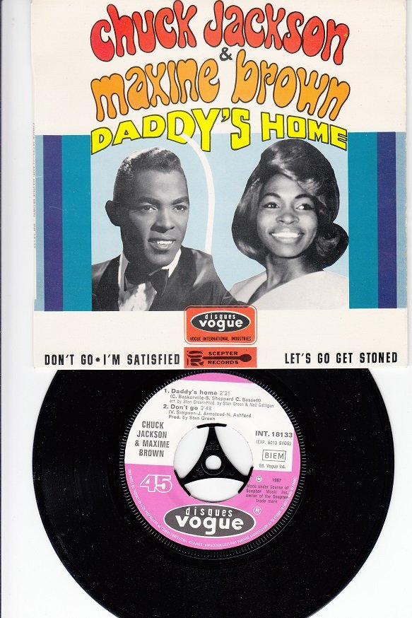 CHUCK JACKSON & MAXINE BROWN*Daddy's Home*Mint-EP !