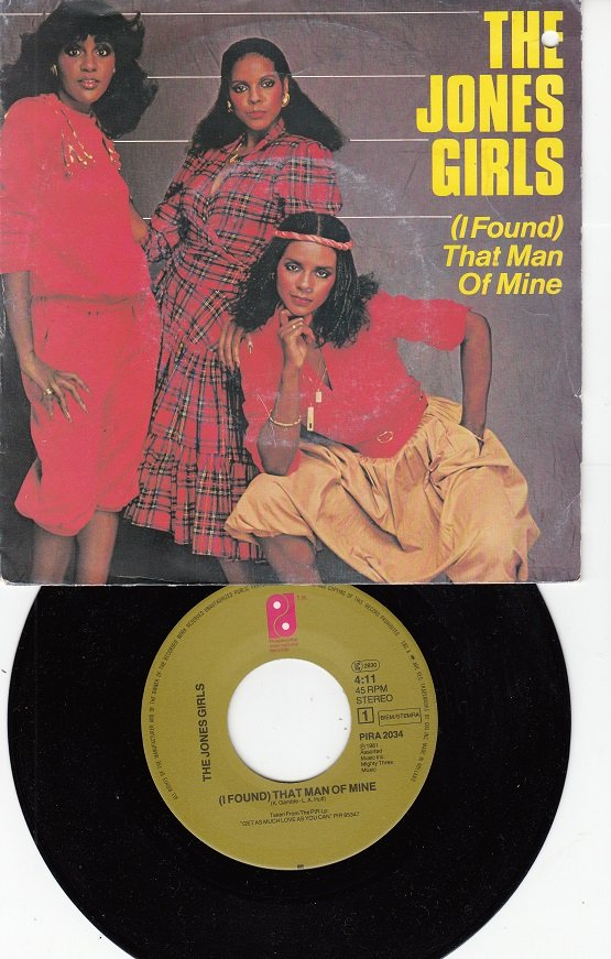 THE JONES GIRLS ~ I Found That Man Of Mine*VG++Picture Sleeve & 45 !