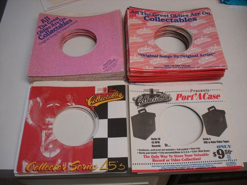 100 VINTAGE COLLECTABLES 45RPM RECORD SLEEVES !