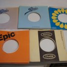 50 VINTAGE EPIC 45 RECORD SLEEVES !