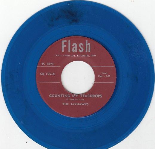 JAYHAWKS ~ Counting My Teardrops*Mint-45*RARE BLUE WAX !