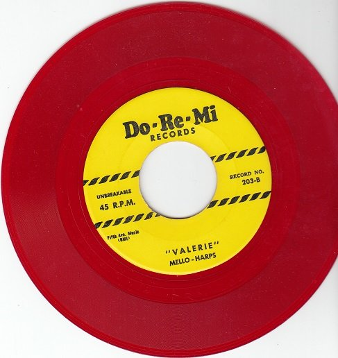 MELLO-HARPS ~ Valerie*Mint-45*RARE RED WAX