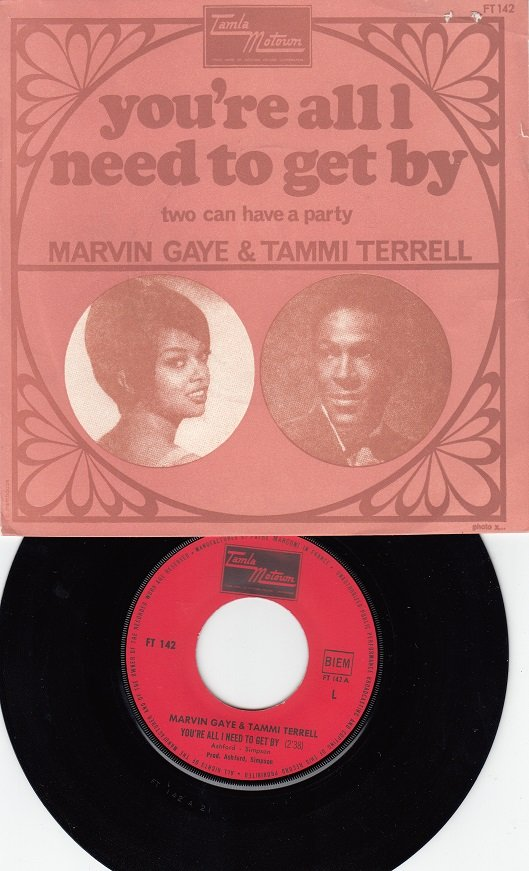 MARVIN GAYE & TAMMI TERRELL ~ You're All I Need To Get By*VG++Pic Slv & 45 !