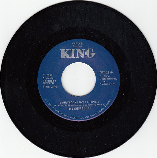 SHIRELLES ~ Everybody Loves A Lover*Mint-45 !