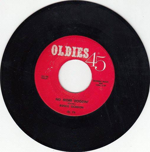 ROSCO GORDON ~ No More Doggin*Mint-45 !