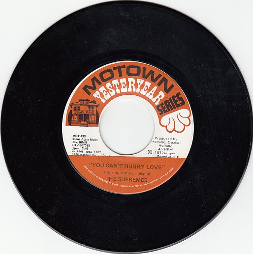 SUPREMES ~ You Can't Hurry Love*Mint-45 !