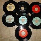 7 LANA RECORDS LABEL*M-DOO WOP*45s !