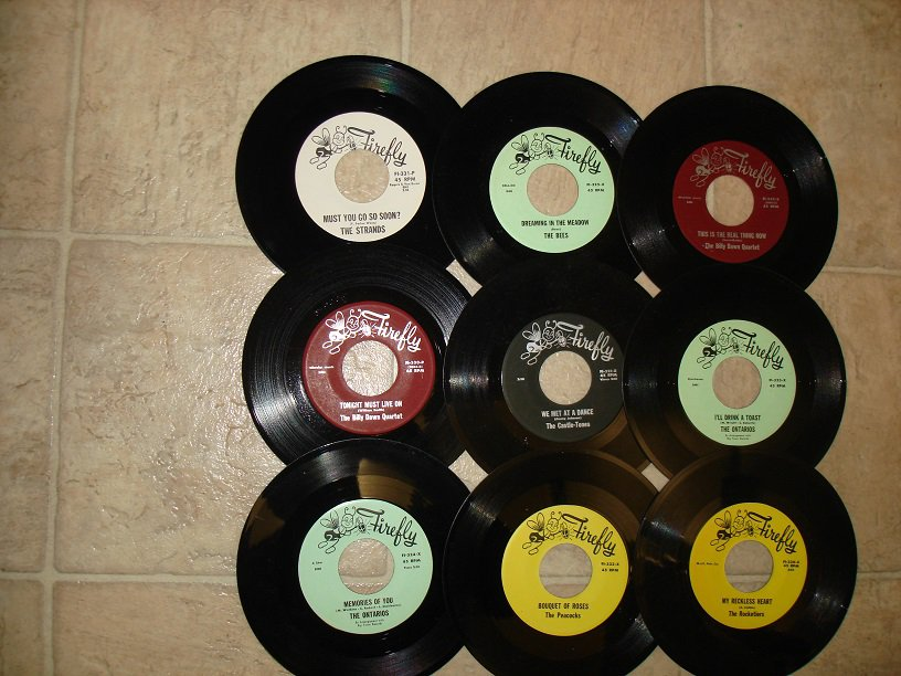 9 FIREFLY RECORDS LABEL*MINT-DOO WOP*45s !