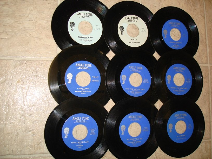 9 ANGEL TONE RECORDS LABEL*MINT-DOO WOP*45s !