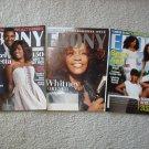 3 Rare Ebony Magazines Whitney, Chaka & Danzel !