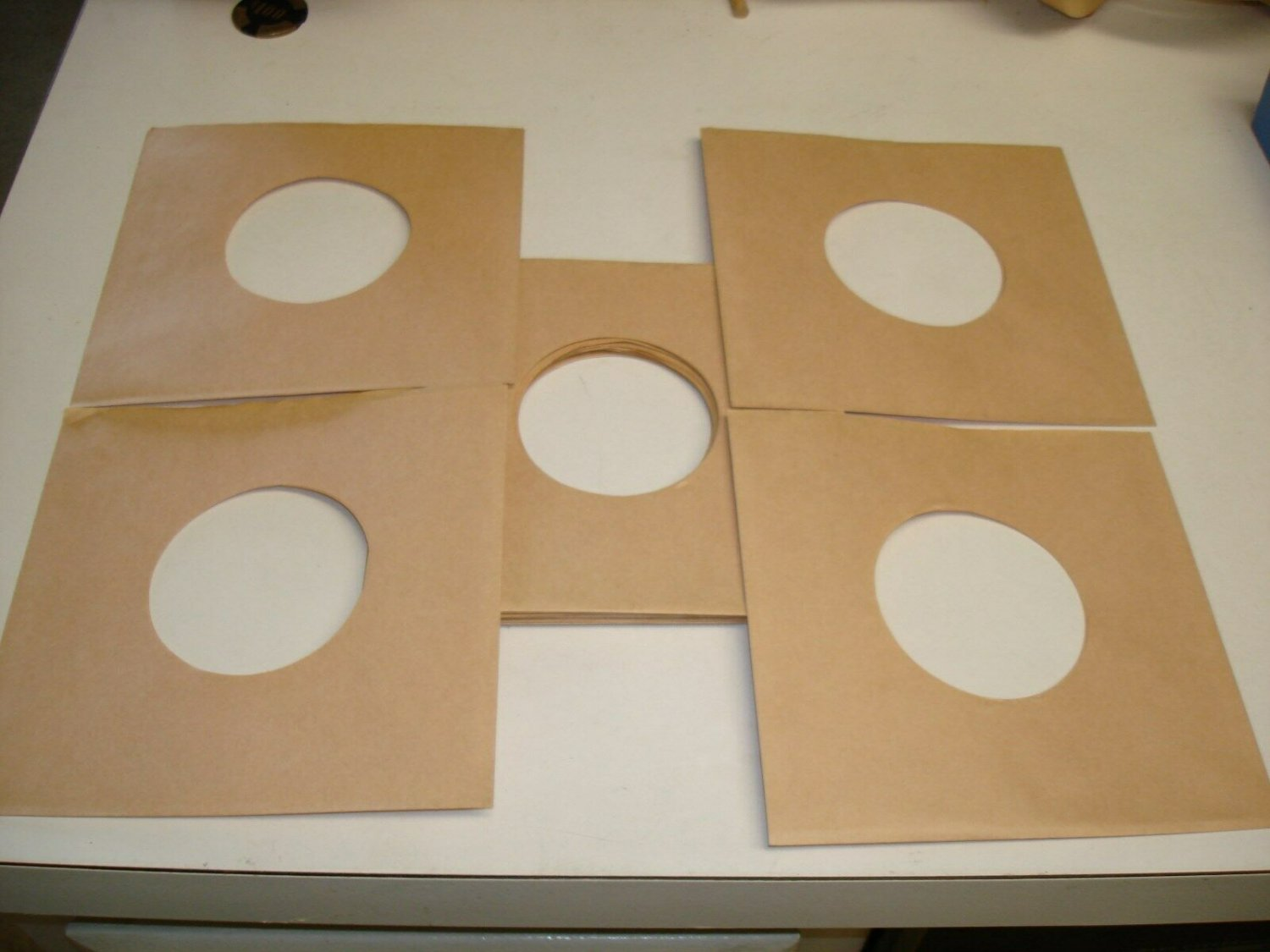 COLOR RECORD SLEEVES ~ BROWN * 45 RPM !