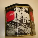 Coca-Cola Retro Hexagon Tin Canister !