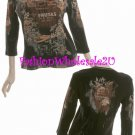 "WS Black Vintage ""Mona Lisa Fruit"" T-Shirt Top Wholesale (7 Pack)"