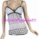 AS Black/White Polka Dot Tank Top Wholesale (5 Pack)