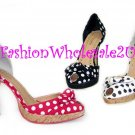 """HW """"Country Girl"""" High Heel Womens Shoes Wholesale (18 Pair) - WHITE"""