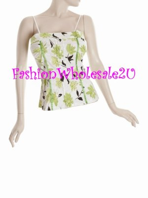 WS Green Tea Halter Top Wholesale (6 Pack)