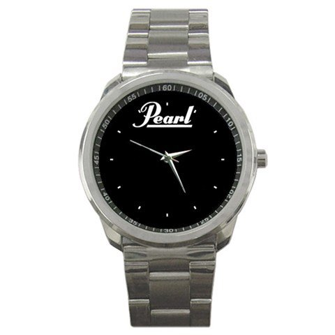 Pearl 20inch Ebony Bass Drum Head Style Sport Metal Watch