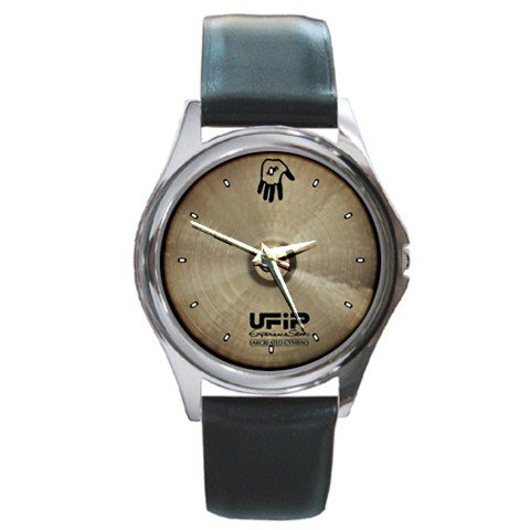 UFIP The Experience Series 16inch Hand Cymbal Style Round Metal Watch