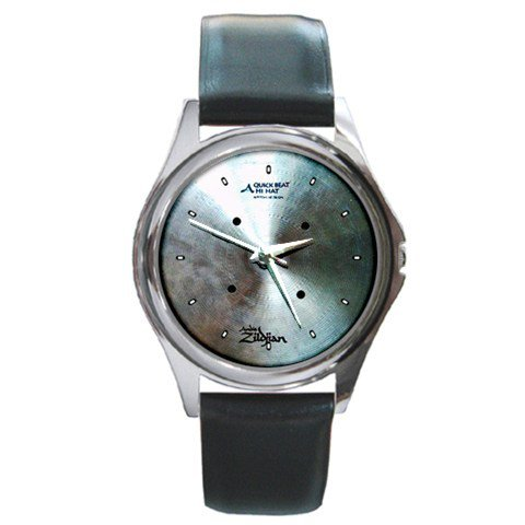 Zildjian 14inch Hi-Hat Quick Beat Cymbal Style Round Metal Watch