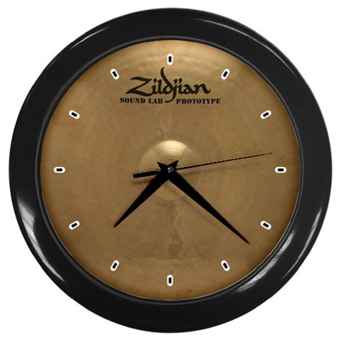 Zildjian K Constantinople Prototype 17inch Crash Cymbal Style Black Wall Clock