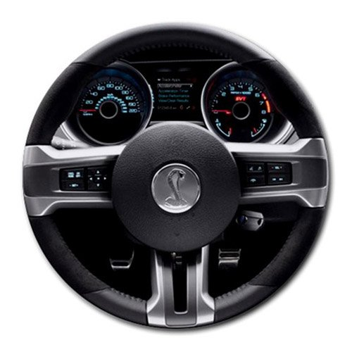 2013 Ford Mustang Shelby GT500 Dashboard Steering Wheel Round Mousepad